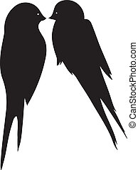 Love Birds Kissing