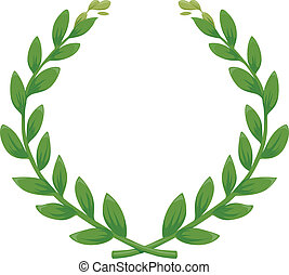 Green Laurel Wreath