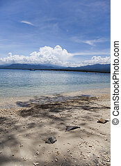 Sea and coastlines of Gili Air, Indonesia