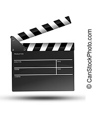 Movie Clipper Isolated - Movie Clipper Illustration Isolated...