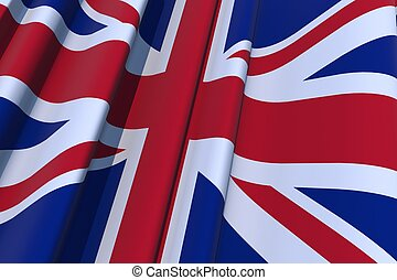 United Kingdom 3D Flag - United Kingdom 3D Wavy Flag...