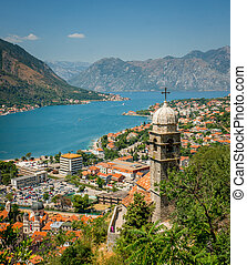 Old town in Kotor - Old town in mountains in Kotor