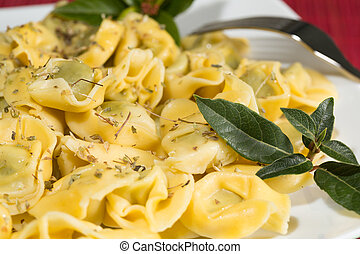 Tortellini stuffed with spinach - Delicious stuffed...