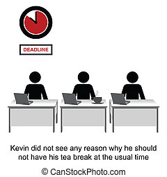 Tea Break - Nothing was going to interrupt Kevins tea break...