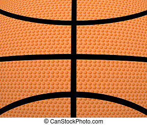 3d basket ball creative abstract orange background