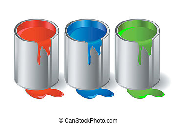 paint - Illustration of metallic capacity with a paint....