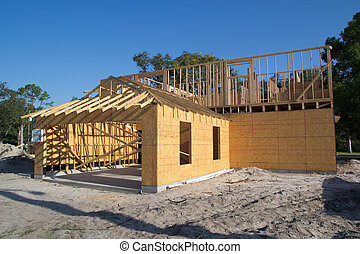 New Home Construction - A new home under construction