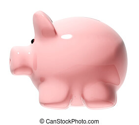 Piggy bank Object isolated on white background