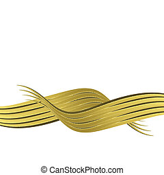 abstract golden band horizontal isolated on white background...
