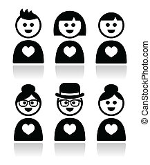 Poeple in love, valentine's day - People in different ages...