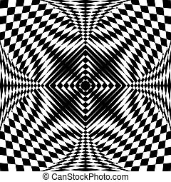 Abstract pattern in op art design. - Abstract fancy pattern...