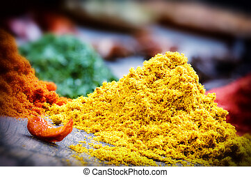 Colorful mix of spices - Colorful mix of oriental spices