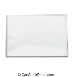 Blank newspaper template on white background. Vector...