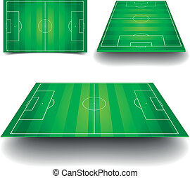soccer field set - detailed illustration of a soccer field...