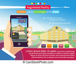 Augmented reality poster, Fantastic mobile technologies of...