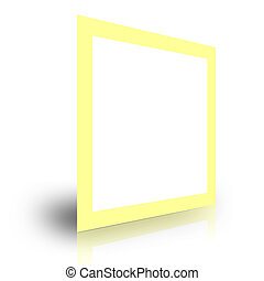 blank foto frame template on white background