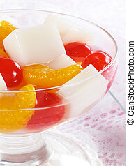 Chinese Almond Jelly - A delicious Chinese dessert… almond...