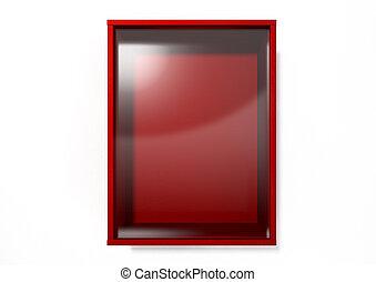 Break In Case Of Emergency Red Box - An empty red emergency...