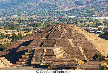 Teotihuacan - Pyramid of the Sun. Teotihuacan. Mexico.