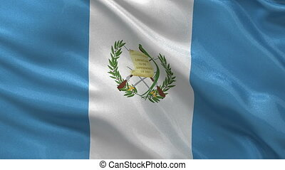 Flag of Guatemala - seamless loop - Flag of Guatemala waving...