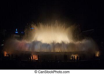 Magic Fountain of Montjuïc in the night