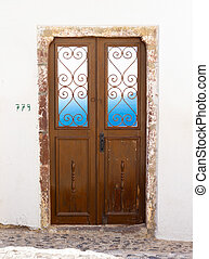 Greek door and window.
