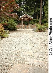 shrine in japanese zen garden