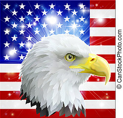 American eagle flag - Eagle America love heart concept with...