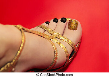Beautiful luxury pedicure. - Beautiful luxury pedicure with...
