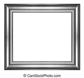Picture frame Black wood frame in white background