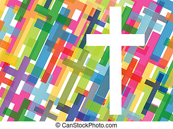 Christianity religion cross mosaic concept abstract...