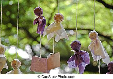Japanese handmade rain doll
