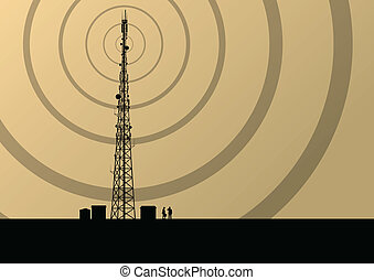 Telecommunications mobile phone base station radio tower...
