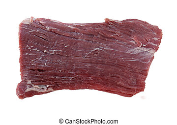 Flank steak raw - A piece of raw flank steak, also known in...