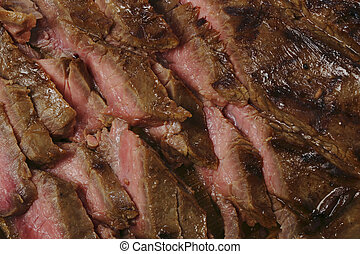 Grilled flank steak or London broil - Thinly sliced...