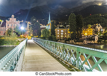 Innsteg bridge in Innsbruck, Upper Austria - Innsteg bridge...