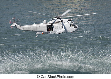 Rescue Helicopter - An Australian navy sea king helicopter...