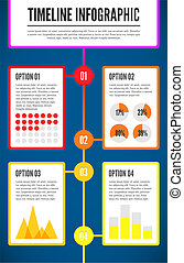 Timeline infographic template. Vector illustration for your...