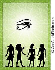 Egyptian hieroglyphics - illustration of Egyptian...