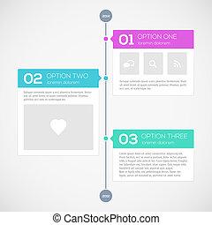 Modern timeline design template. Vector illustration for...