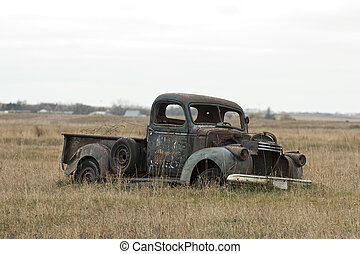 Truck in a pasture