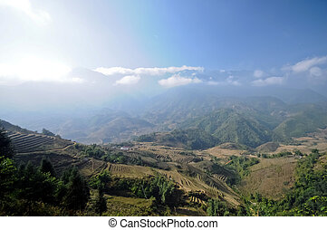 Lao Cai mountains in Northen Vietna