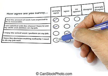 How Agree Are You Survey - business concept for management...