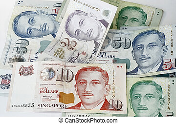 Singapore Dollar denomination two ten five and fifty