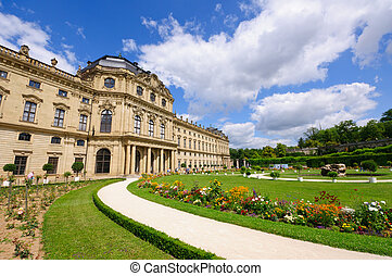 Wurzburg, Germany - The Wurzburg Residence with its Court...