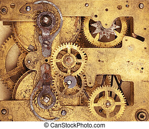 The clockwork or other vintage mechanism - Gears of...