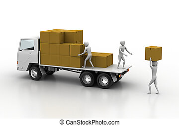 Transportation trucks in freight - Transportation trucks in...
