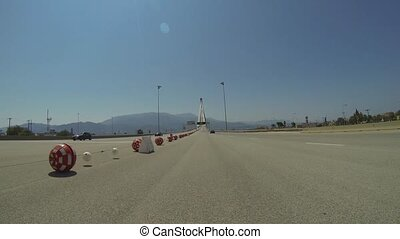 Rio - Antirio Bridge - Driving On The Rio - Antirio Bridge...