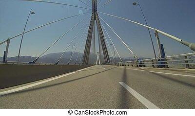 Rio - Antirio Bridge - Driving On The Rio - Antirio Bridge...