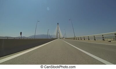 Rio - Antirio Bridge - 2 Times Fast - Driving On The Rio -...